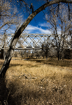 Train bridge outside of Bennett, Colorado where the lost locomotive of Kiowa Creek may lie under