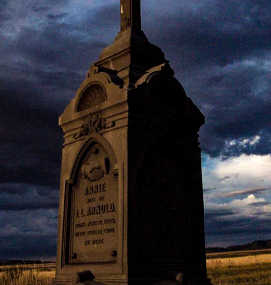 A Masonic grave at Silver Cliff Cemetery where the ghost lights have been seen